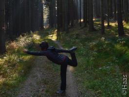 Yogakurs mit Herbstfeeling