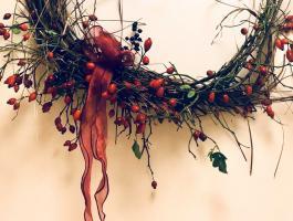 Festtagsdeko aus Naturmaterialien